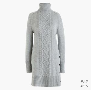 J crew cable knit turtleneck sweater dress